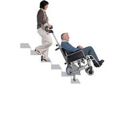 輪椅上落樓梯機