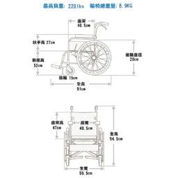 台灣品牌Karma KM-T20手推輪椅